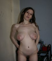 Busty wife with hairy pussy