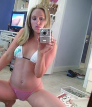 Pretty chick and her selfies