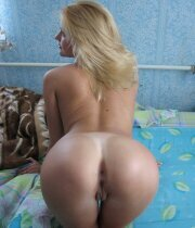 Super hot blonde wife with perfect rear end