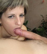Short haired MILF cock sucking and anal sex