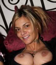Big boobed smiling wife