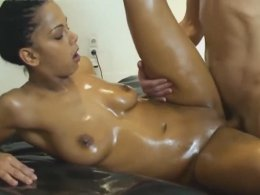 Oiled Up Beautiful Wife Is Getting Penetrated