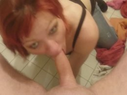 Deep Throat Is An Easy Task For This Redhead Slut