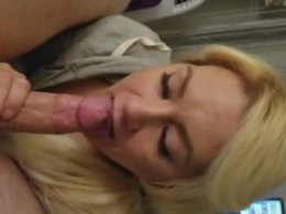 Baby mamma sucking hers step son long dick