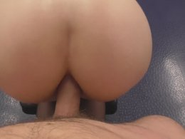 She wears stockings for anal sex in the gym