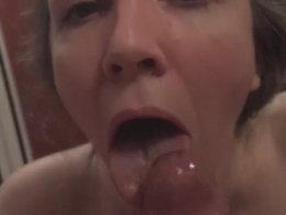 Eye rolling throat fuck in the library by a mature wife