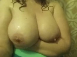 Huge boobs getting a lot of oil and rubbing