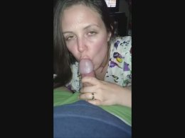 Taste of cum is what she loves and wants
