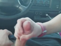 Amateur girl goes crazy on my dick while in a car