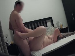 Shagging my chubby wife from behind makes me cum hard