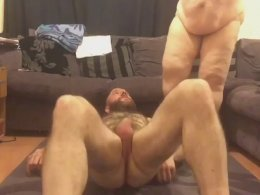 Fat wife still can jump up and down the cock