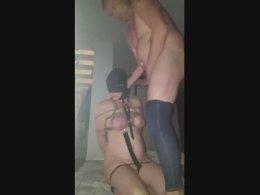 Amateur couple likes bondage and slavery