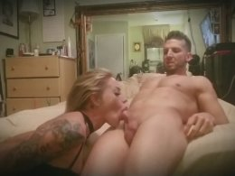 Fucking the face of a horny gothic blonde