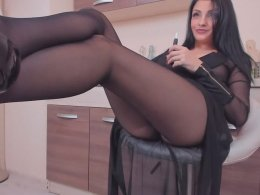 Very seductive solo house wife in black lingerie