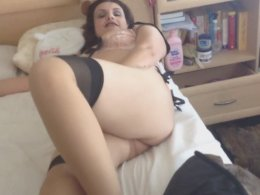 My wife was waiting for me in sexy lingerie