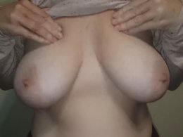You can see how huge her tits are even under the sweater