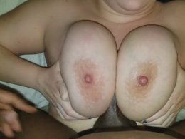 Giant boobs can make this big black cock disappear