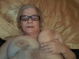 Granny lover gets his dick stroked by skilled hands
