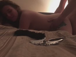 Screwing my big ass wife on the bed