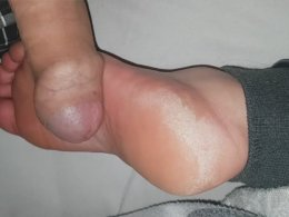 Cumming all over a sole of my wife