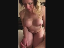 Mature girl with nice tits gets a cock to play with