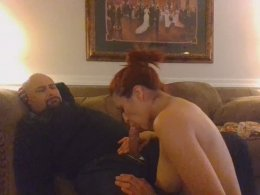 Perfect redhead wife is so good at sucking