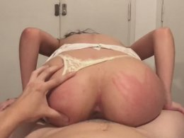 Sloppy blowjob, reverse cowgirl and spanking