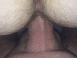 Hairy couple making love