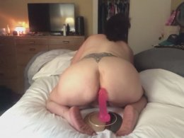 Amateur cutie likes to masturbate with a dildo