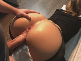 Stiff shaft disappears in a smoking hot babe