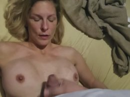 Gorgeous ex wife takes care of a dick