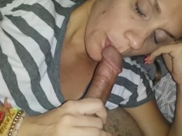 Pretty cutie likes to blow a long delicious dick