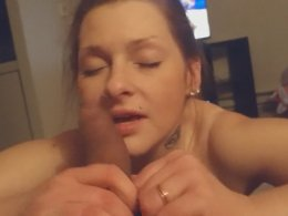 Sweet brunette finally gets to blow a dick