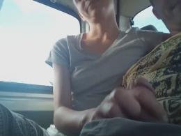 Smoking hot girl jerks a hard pecker