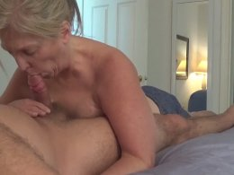Blonde wife surprises me with a blowjob