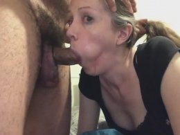 Nasty girl sucks every inch of a cock