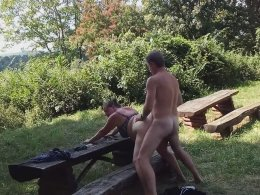 We made a sex tape outdoors