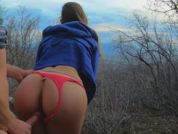 Fucking outdoors pleases us both