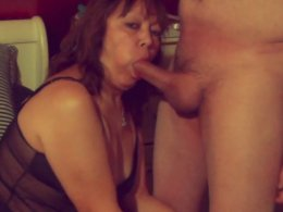 Sexy ex wife wants to drool on a cock