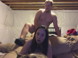 Cutie gets fucked by fat guy