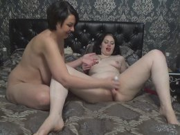 Russian beauty pleasing her girl who is hot and horny