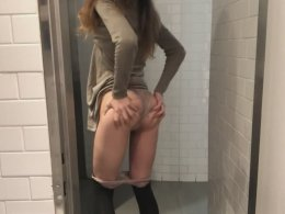 Fucking her at public toilet