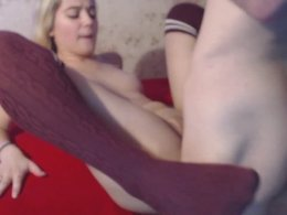 Cute girl pussy fucked in stockings