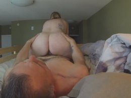Super horny big ass wife gets pussy licked in 69 position and then fucked in cowgirl style