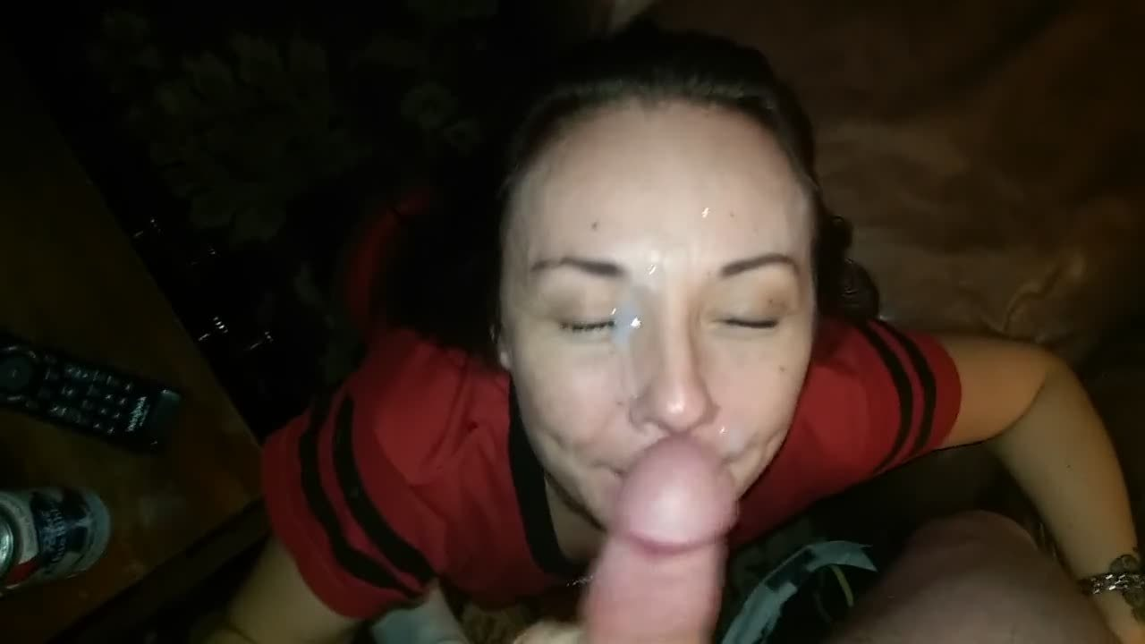 POV Clip Of A Girl Sucking And Getting Covered