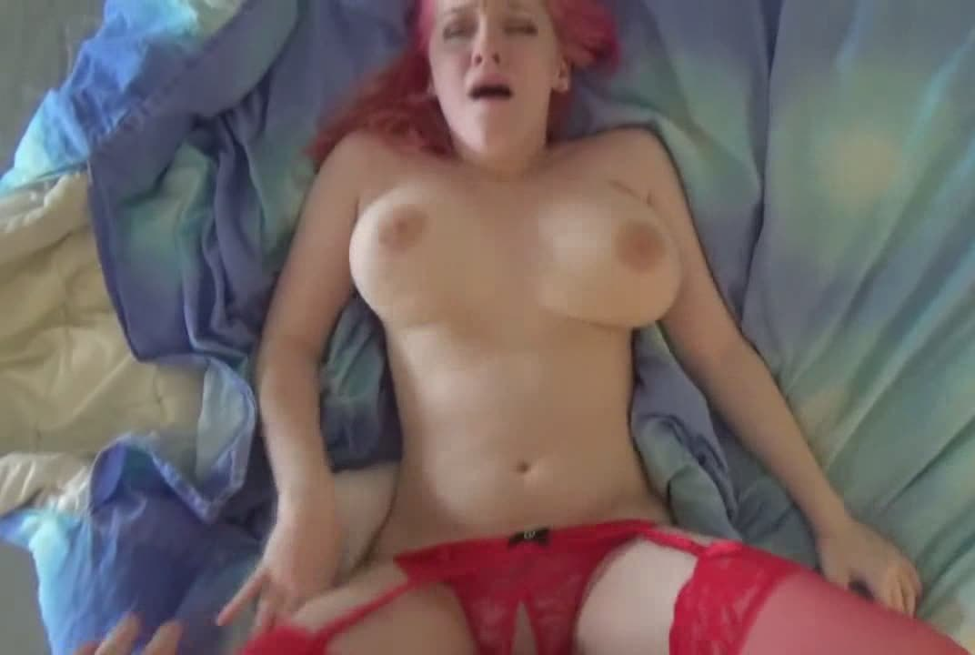 Busty Babe With Pink Hair And Red Lingerie Gets Banged Hard