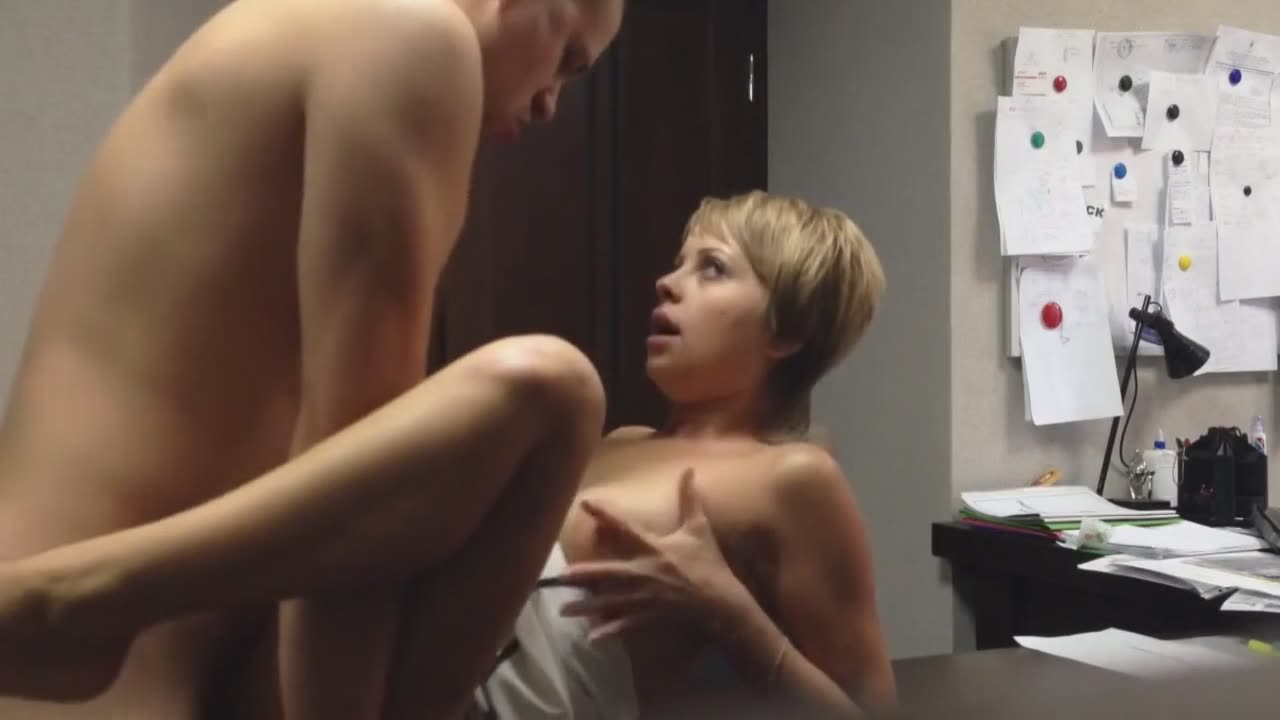 Secretary and her co-worker fucking hard after hours