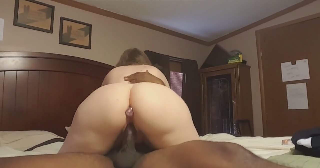 Married wife riding a black cock for the first time