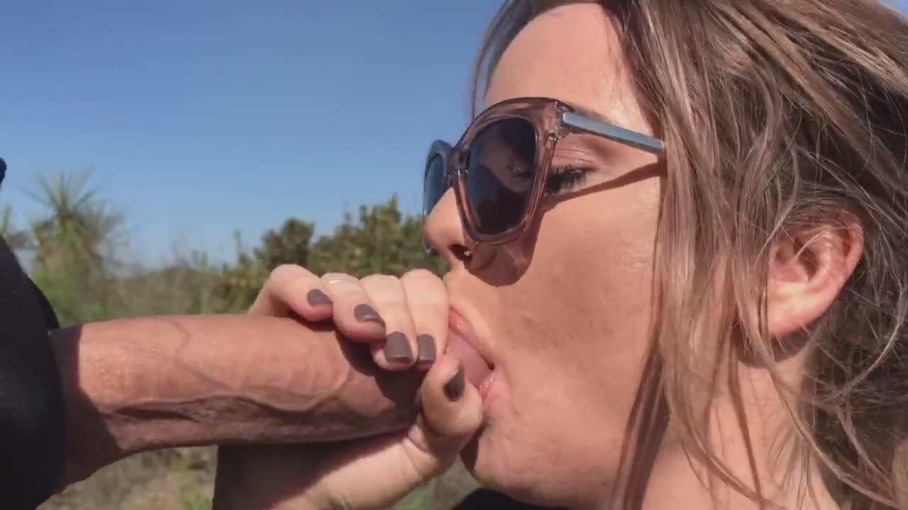 Sunglasses blowjob