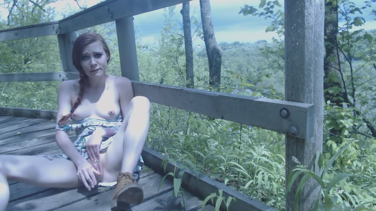 Naked girl left in the woods after public fuck